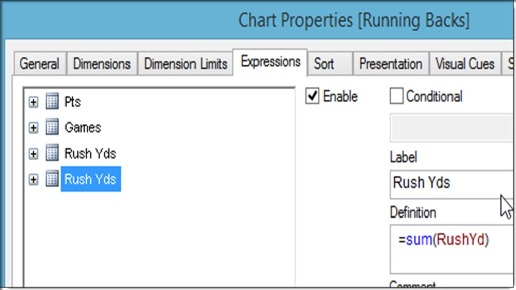 Qlikview Copy Chart Expression