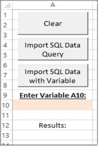 Excel VBA Import SQL Data