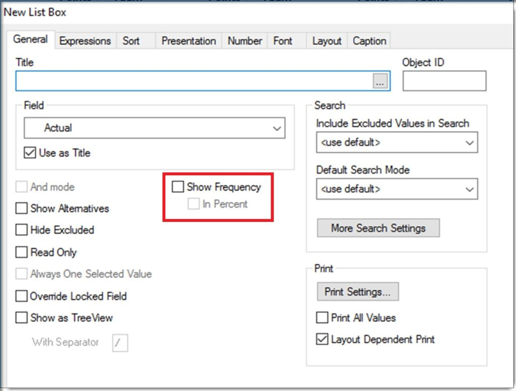 Qlikview List Box Show Frequency
