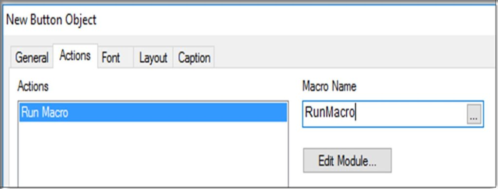 Qlikview Button Run Macro