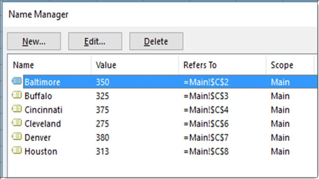 Excel VBA - Create Multiple Named Ranges Based on List